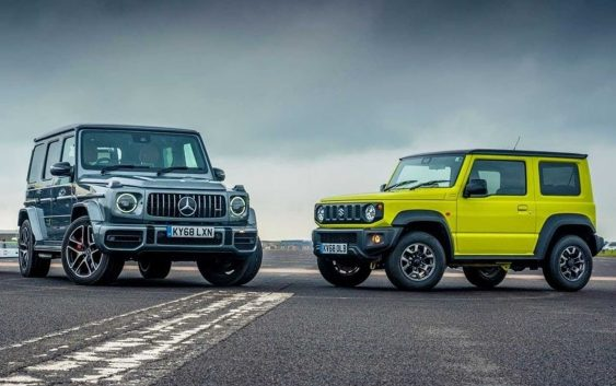 Mercedes-AMG G63 and Suzuki Jimny